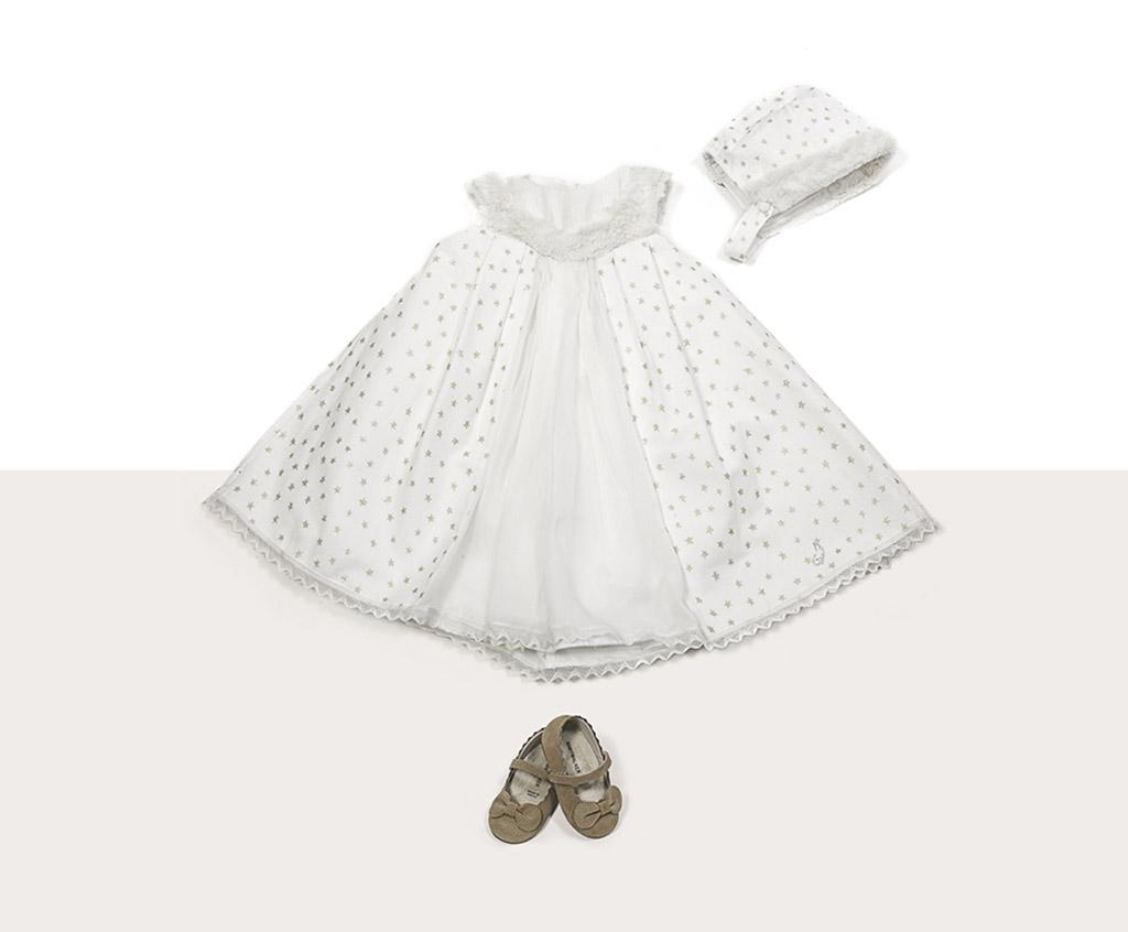 f60a85a9c78 Βαπτιστικο φορεματάκι με αστέρια και γουνακι στο λαιμό – Sweet Wish ...